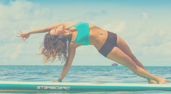 SUP Yoga Pose Side Plank